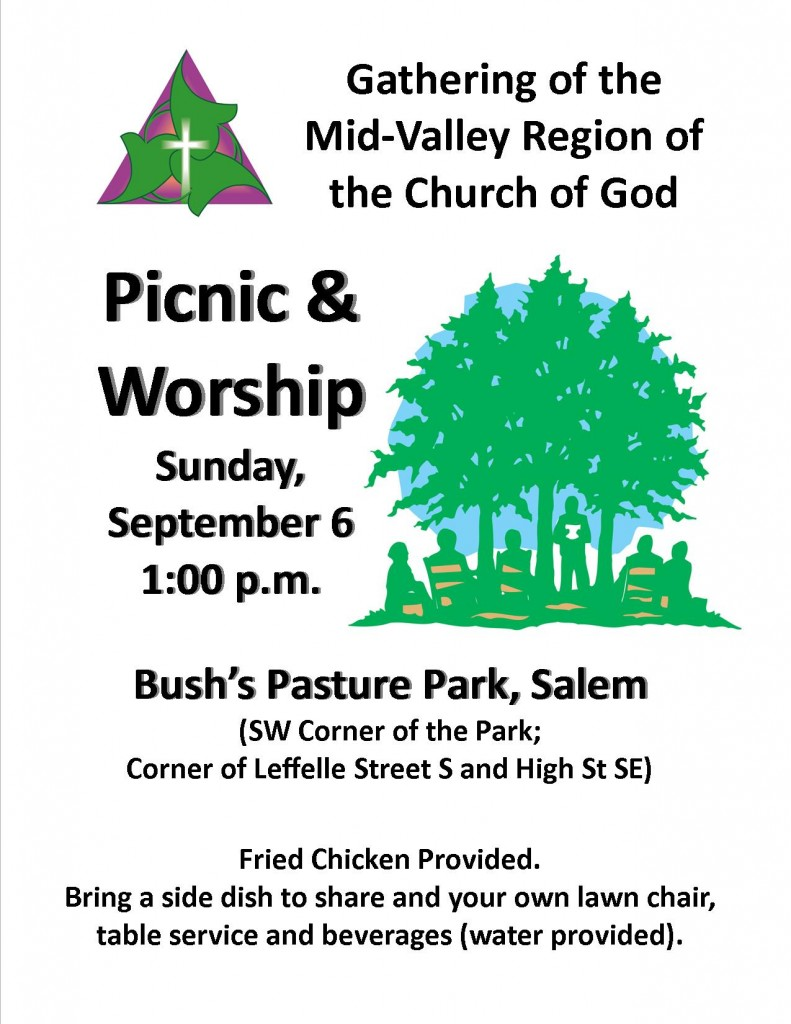 Church in the Park Flyer, 2015